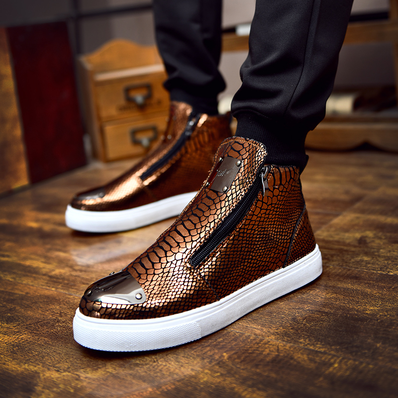 CNFIIA Men Boots Large Size 45 Autumn Winter Male Ankle Boots High Quality Leather Man Casual