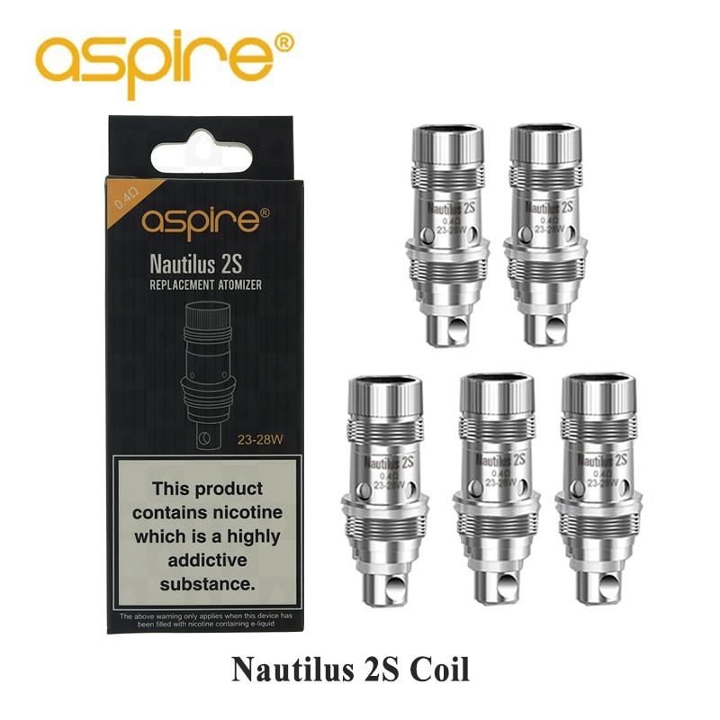 Original Lot de 5 Aspire Cleito Coils 0,4ohm Coil Heads Replacement  GE