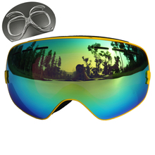 CE Certification Ski Glasses Double Lens UV 400 Anti fog Ski Goggles Skiing Snowboard Motocross Goggles