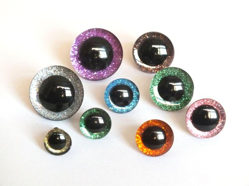 10pcs 30mm Plastic Half Round Eyes Eyeballs Accs For Doll Mask DIY Making
