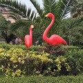 Decoração do jardim artificial vermelho/rosa flamingos pátio paisagem ornamento pássaro quintal gramado plástico decoração animal