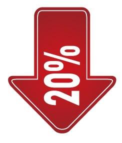 6 см ширина 10% 20% 30% скидка 50%, продвижение скидка этикетка наклейка, арт. PD08 - Цвет: 20 off