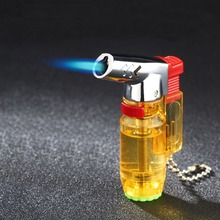 Torch Turbo Lighter gas Lighter Blue Flame Electronic Lighter Butane  Mini Cigar Cigarettes Lighters Smoking Accessories zinc alloy super firepower blue flame butane gas lighter bronze