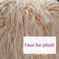 Manufacturers spot pillow toy fabric artificial fur plush radish silk imitation beach wool fabric Haipai plush