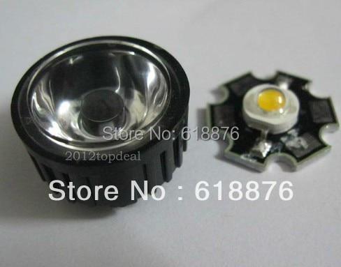 10pcs 1w 3W  Red, Green, Blue, Yellow, RGB,white(neutralWhite), Warm White, Cool White LED Light  20mm Heatsink + 45degree  lens