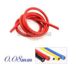 18AWG 10 м черный 10 м красный термостойкий гибкий силиконовый провод медный кабель 0,75 Seq. Мм