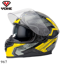 YOHE Helmet 2016 New Motorcycle Helmet Full face Motorcycle Helmet Top Quality Best Safe Abs Unisex Moto Helmet Motorbike YH-967