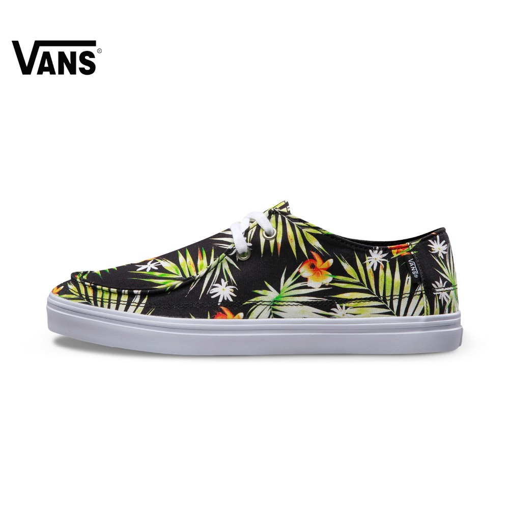 Summer Leaves Printed Men Vans Sneakers Low-top Trainers Men Sports Skateboarding Shoes Breathable Classic Canvas Vans Shoes popular classic buildings printed unframed canvas paintings