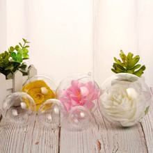 10 Pcs Transparent Ball Spherical Baubles DIY Decorations Hanging Christmas Tree Party Ornament Gift gift Box