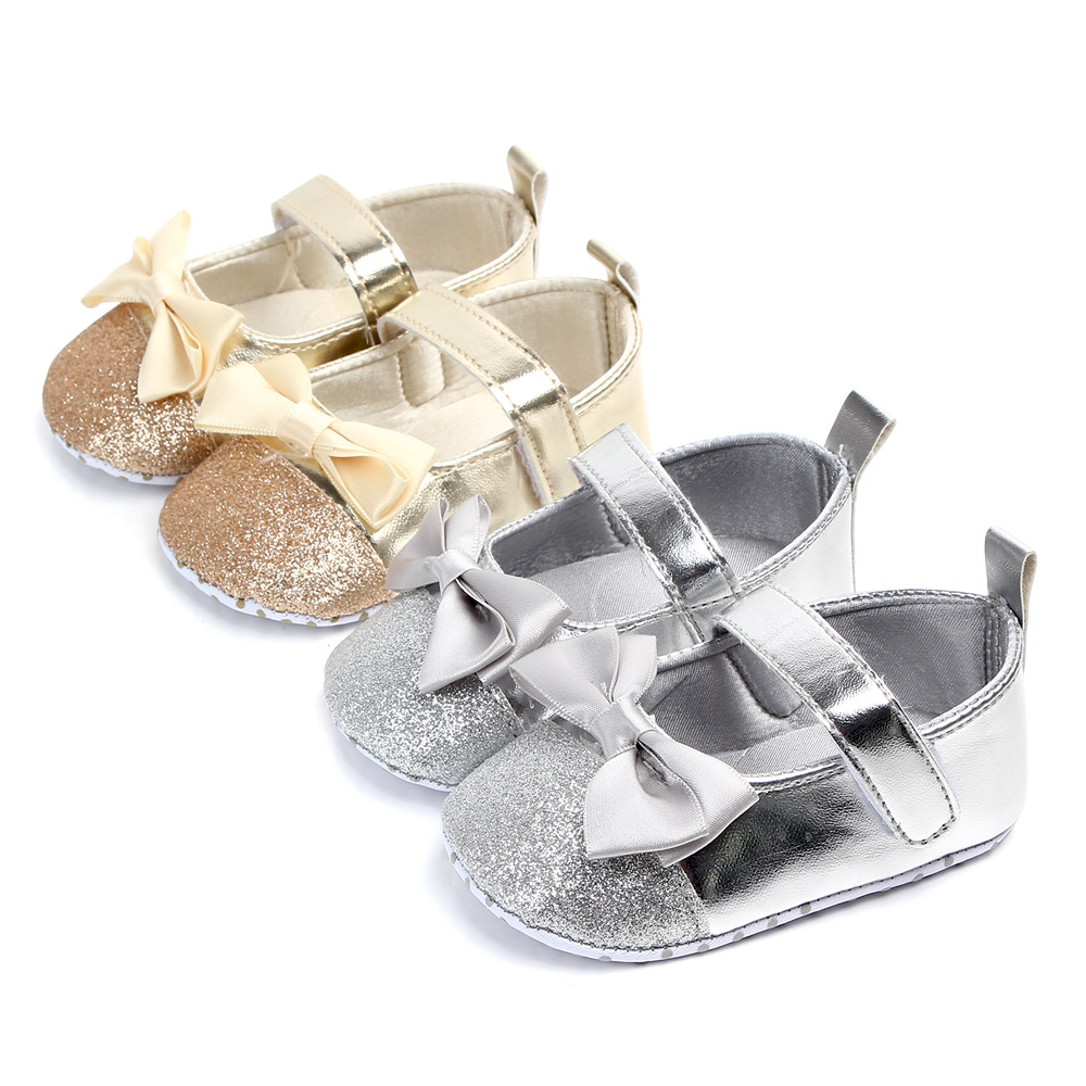 Silver Moccasin Baby Girl Shoes  Rabbit Leather Shoes Infant Soft Sole Prewalker Shoe Newborn Girl Shoes