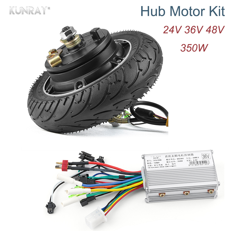 8''350W 24V 36V 48V DC Brushless Hub Wheel Motor For Electric Scooter Skateboard electrico Bike Motor 200*50 Airless Tire J04 electric motorcycle 60v1000w brushless non gear hub motor 225 55 8 tire vacuum tire for electric bicycle wheel motor