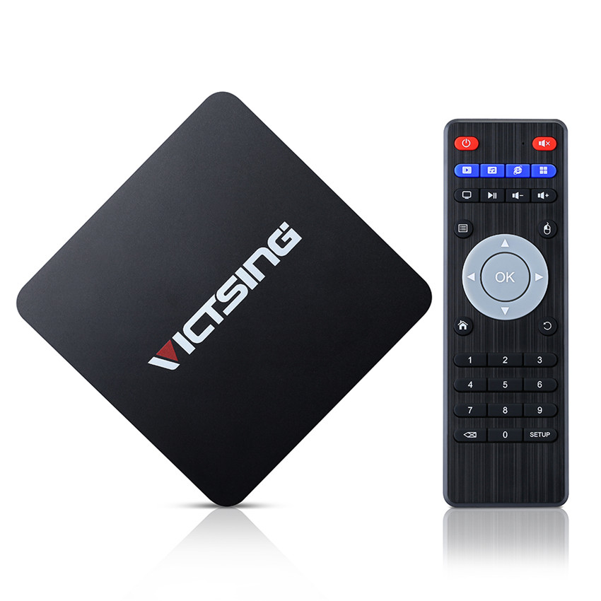 ФОТО VICTSING Android 5.1 bluetooth4.0 TV BOX Amlogic S905 Quad-core 64-bit 1GB/8GB BT4.0 H.265 Support WiFi Miracast&Gigabit Network