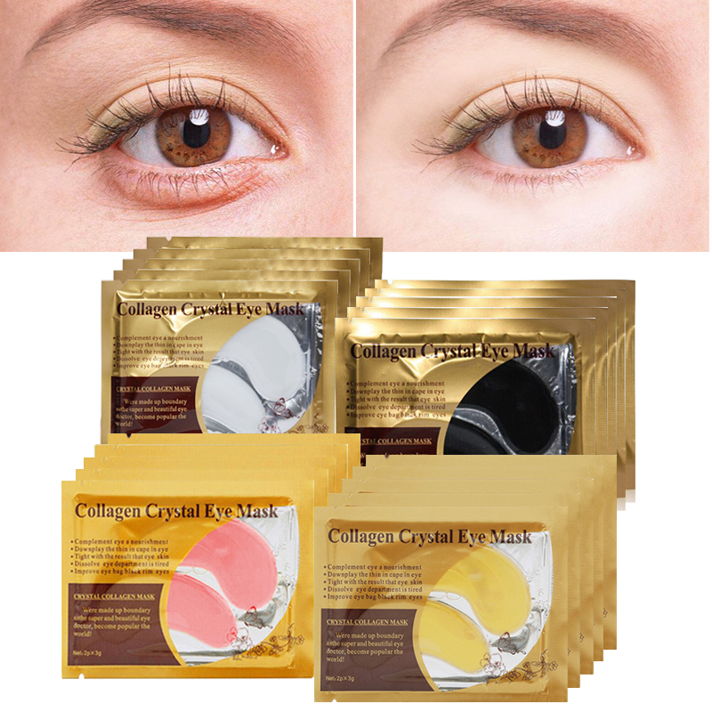 Crystal Collagen Eye Mask Face Mask Gel Eye Patche for the Eyes Dark Circle Remover Gold Mask Moisturizing Anti Aging Eye Pads in Creams from Beauty Health
