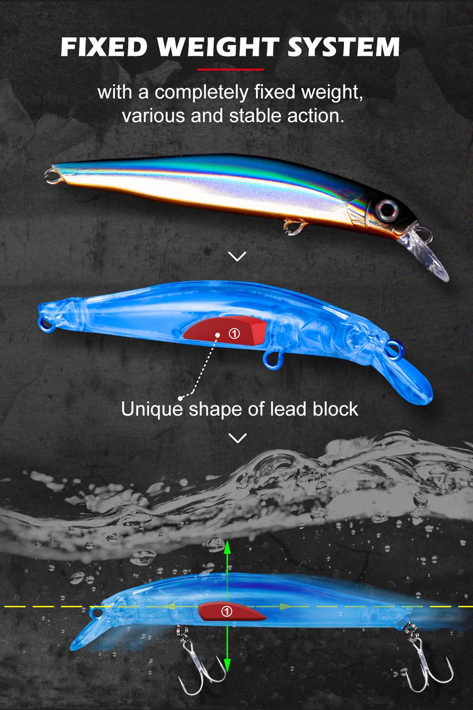 Leurre coulant Type Jackson Artist 70mm 7g 80mm 9 g pour mer ou rivière