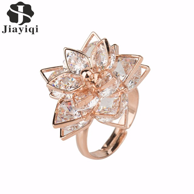 New Brand Rose Gold color Rings For Fashion Women Best Quality Women