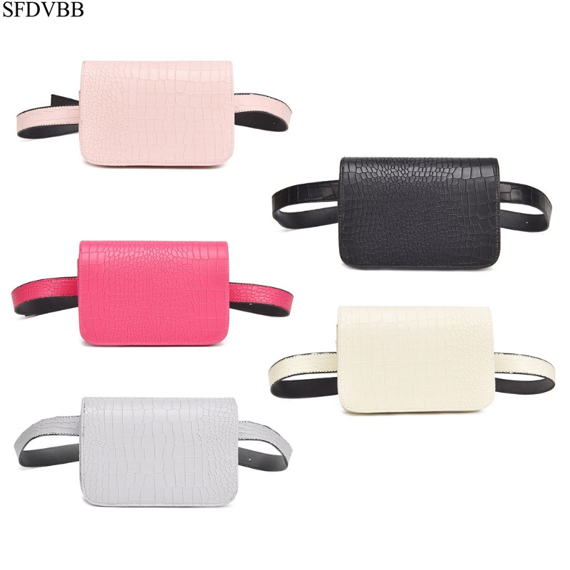 SFDVBB Alligator Pattern Latest Fashion PU Waist Bag Ladies Portable Phone Female Pack
