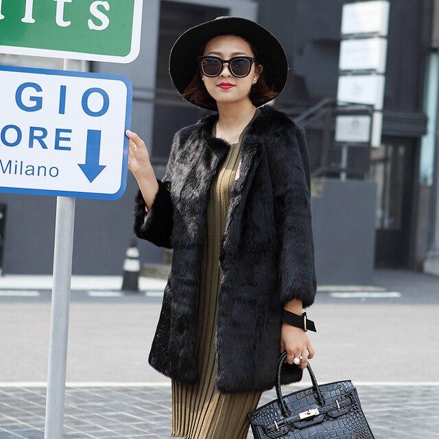 Aliexpress.com : Buy 2017 new black rabbit fur coats for women ...