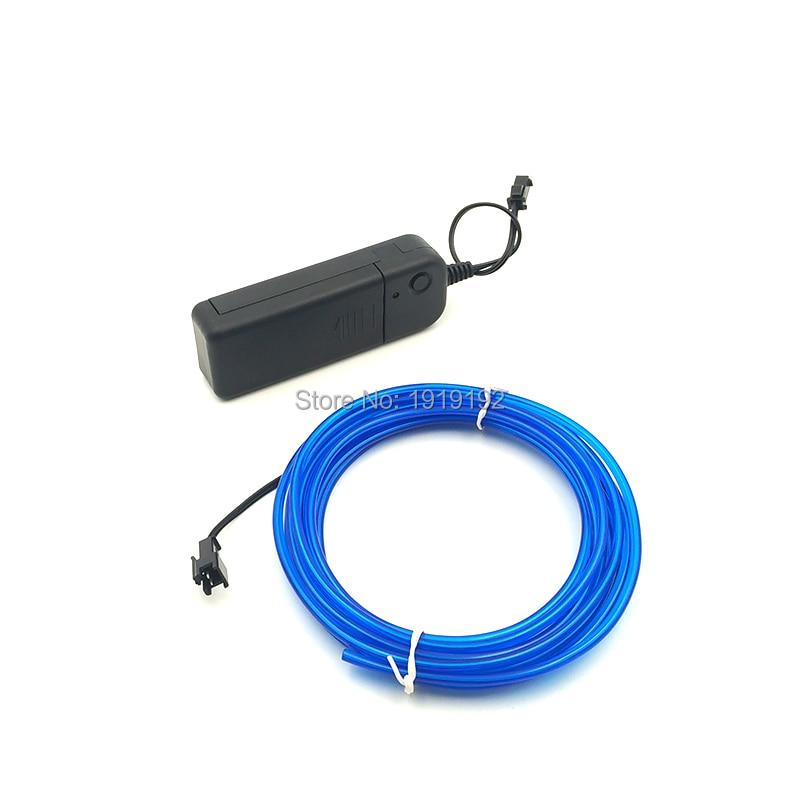 √1Set 3.2mm 2Meters Flexible EL Wire Rope Neon Light Glow With DC ...
