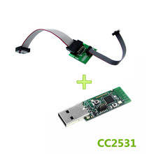 CC2531 CC2540 Zigbee Sniffer Wireless Board Bluetooth BLE 4.0 Dongle Capture Module USB Programmer Downloader Cable Connector