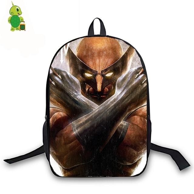 Us 17 25 Off Logan Superhero Backpack For Age S Boys Book Bag Women Men Laptop Travel Avengers Children School Bags In Backpacks