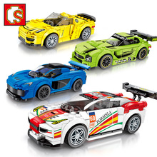 4 Styles Sembo Diamon Nano Blocks Faomus Car Compatible LeSet Technic Voiture  Building Brick Educational Toys Birthday Gift