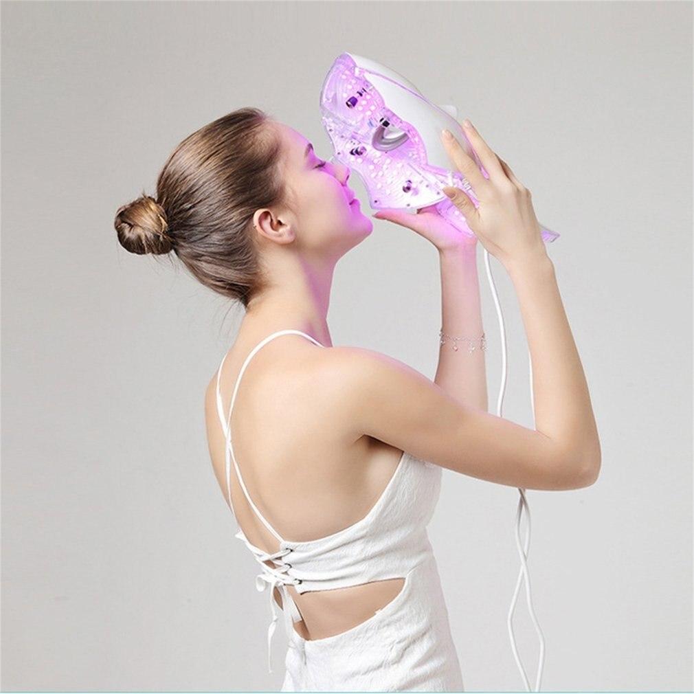 LED 7Colors <font><b>Light</b></font> Microcurrent Skin Rejuvenation Facial Mask Electric Device For Women Lady <font><b>Face</b></font> Skin Care Tools H7JP