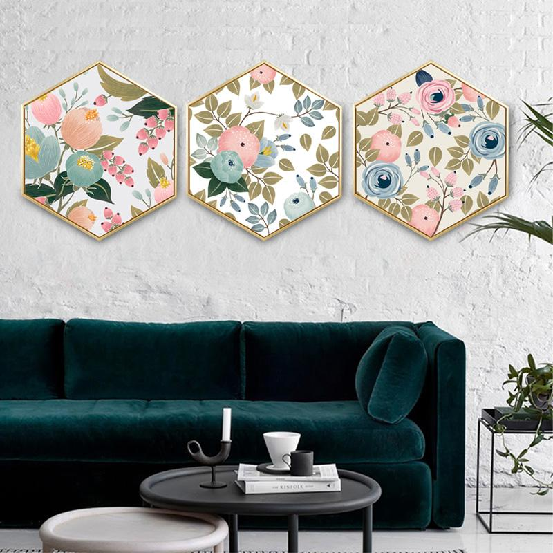 Hot Sale F8e56 Hexagonal Decorative Painting Creative