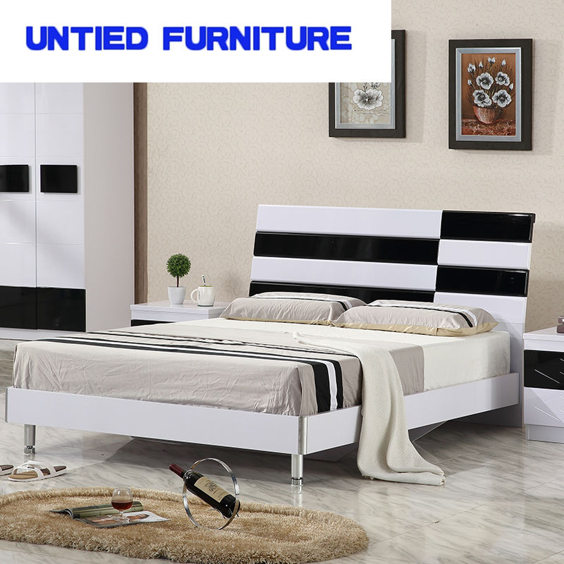 white and black modern beds hot selling simple bed for bedroom ...