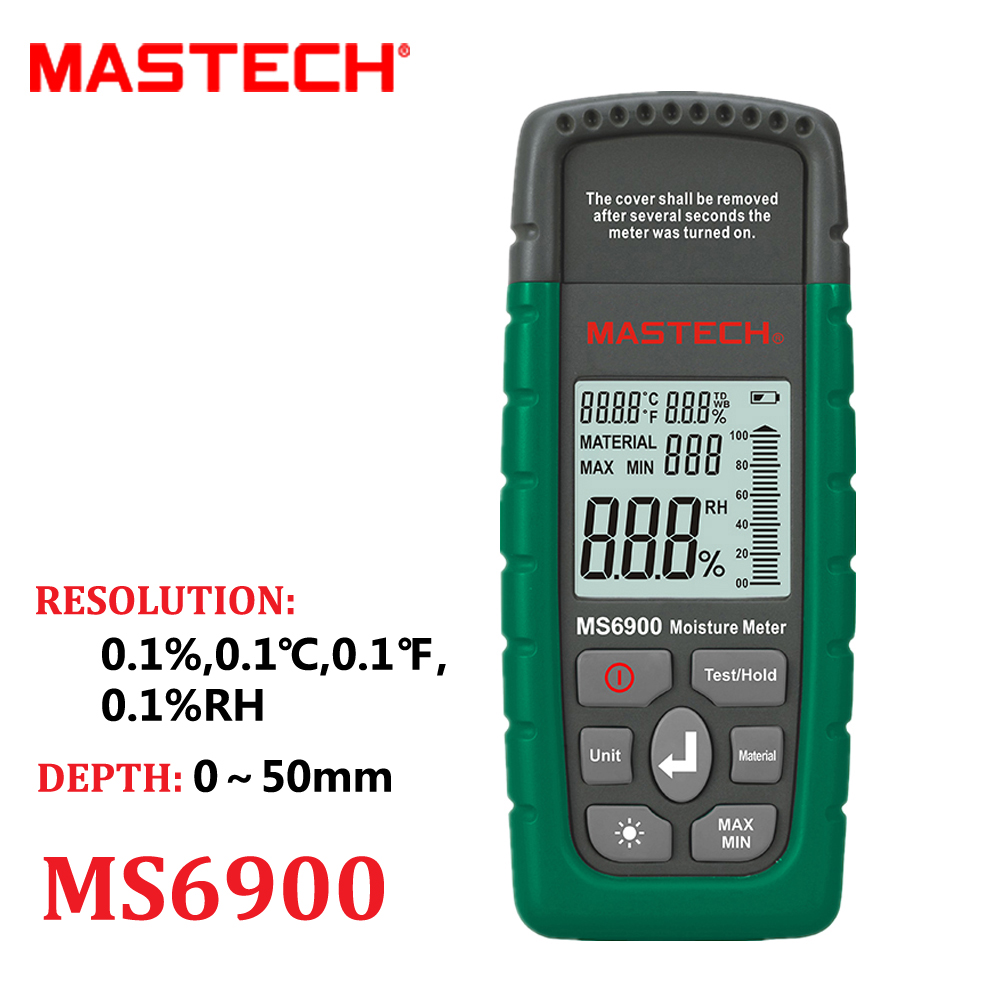 Mastech MS6900 higrometre Digital Moisture Meter Wood/ Lumber/Concrete Buildings Temperature Humidity Tester with LCD Display for kia carnival car driving video recorder dvr mini control app wifi camera black box registrator dash cam original style