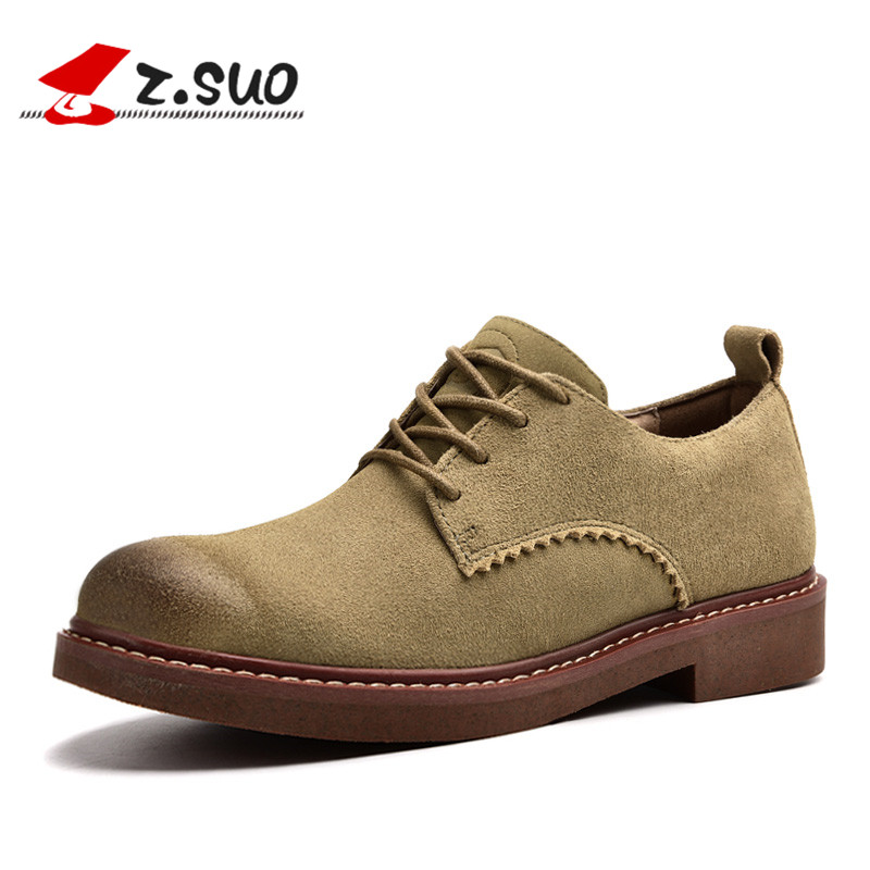 Z.Suo Casual Cow Suede Women's Flat Shoes Fashion Spring And Autumn Lace-up Rubber Outsole Female Shoes Women Flats ZS18016N цены онлайн