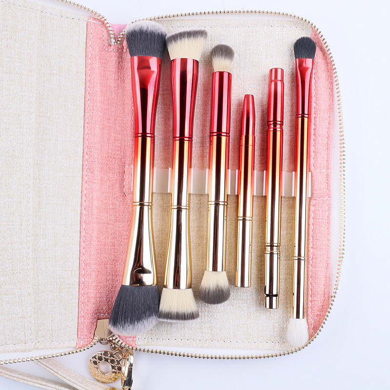 Tesoura de Maquiagem de escova pincéis de maquiagem Quantidade : 6 Peças