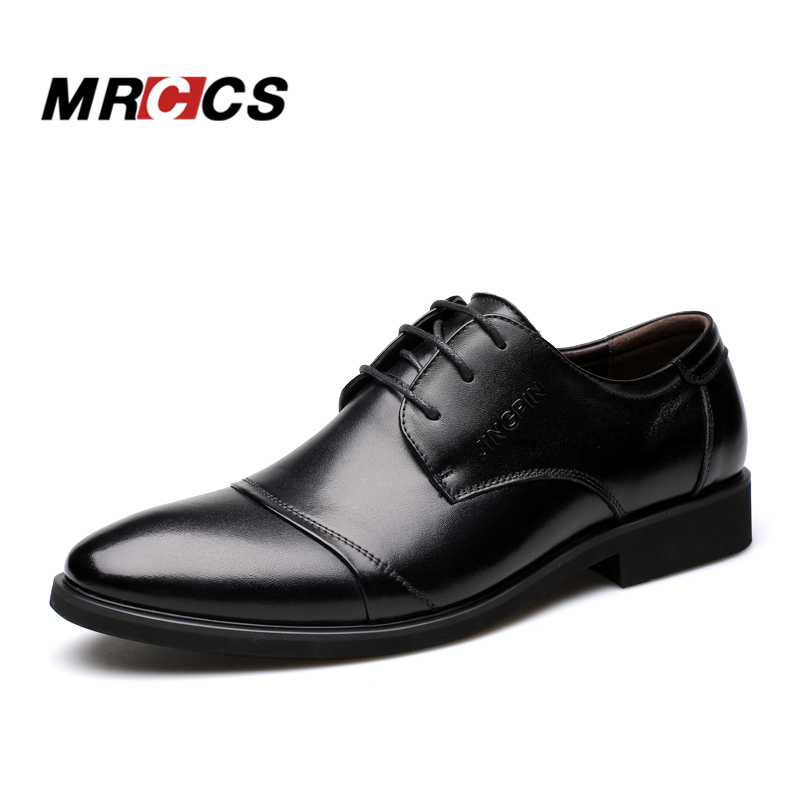 MRCCS City Men s Classic Dress Shoes Luxury Brand Spring Summer British Style Business Formal Shoes