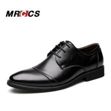 MRCCS Ciudad Clásico de Los Hombres Zapatos de Vestir de Marca de Lujo, primavera/Verano Estilo Británico de Negocios Zapatos Formales Marrón, Derby de Cuero Ocasional