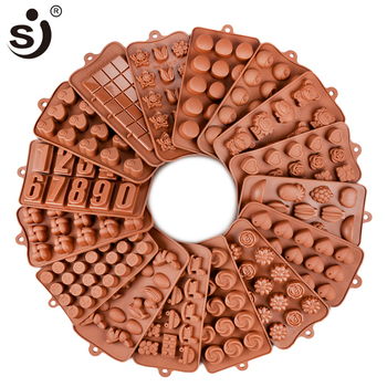 New Silicone Chocolate Mold 24Shapes Chocolate Baking Tools Non-stick Cake Mold Jelly&Candy Mold 3D Mold Decoration DIY Hot Sale