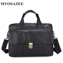 MYOSAZEE Men Bag Men's Handbag Shoulder Bag Soft Cow Leather Genuine Leather Briefcase