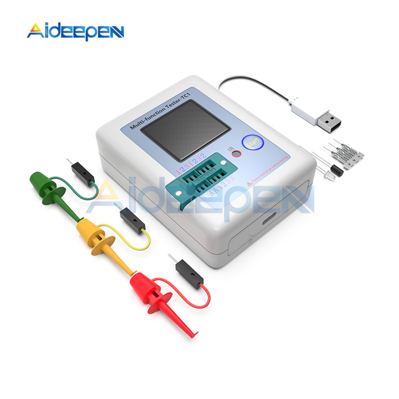 LCR-TC1 TC1 Colorful Display Multifunctional TFT Backlight Transistor Tester For Diode Triode Capacitor Resistor Transistor