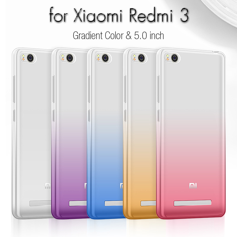 "Brand New Back Cover Case for Xiaomi Redmi 3 Case Cover 5.0"" Silicone Soft TPU Cute Fundas Phone Case for Xiaomi Redmi 3 Housing"