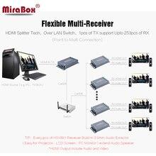 HSV891 TCP IP HDMI Extender 1 Expéditeur N Récepteur 100 m 200ft TX RX 1080 P Sur Cat5e/6 STP UTP Câble rj45 HDMI Extender Sur IP