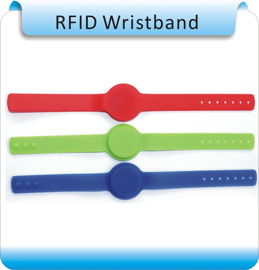 Free Shipping Wholesale Waterproof 100 PCS Silicone 125 KHZ RFID Electronic Hand Belt/electronic Key