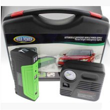 50800mAh 12V Emergency Jump Start Power Bank for Car Jump Starter Supplier Car Jump Start Laptop Starter with Pump Green LR15