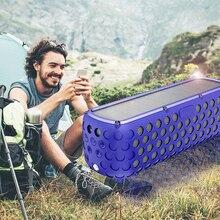 Tragbare IPX5 Wasserdichte Solar Bluetooth Lautsprecher mit LED licht und Eingebaute Mic Kompatibel für iPhone Samsung und Intelligente Geräte