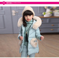 Girls Down Coat Long Children Duck Down Jacket Set Pants-Jacket Clothing Cotton Hooded Zipper Casual Girl Winter Jackets