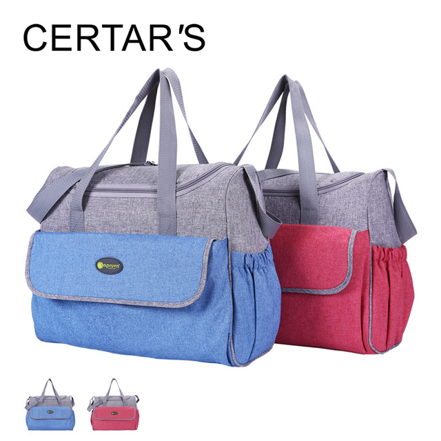 CERTAR'S Fashion Baby Diaper Bags Nappy Backbag Mommy Multifunction Changing Messenger Bags Stroller Bag Mother Tote Bag Hobos