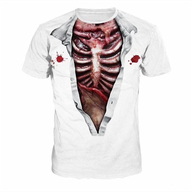 Women's 3D Skeleton T Shirts
