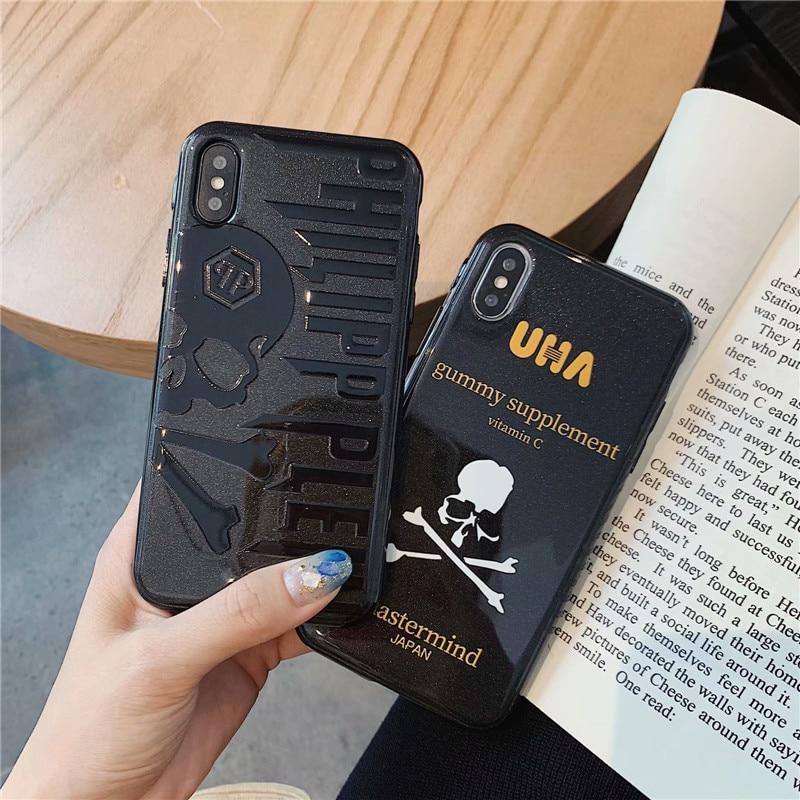 04d272f52c PHILIPP PLEIN Skull phone case for iphone XS Max case coque luxury Soft  silicone