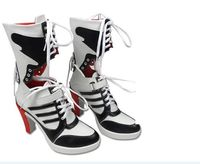 2016 Batman Suicide Squad Harley Quinn Boots Movie Cosplay Costumes Shoes High Heels Custom Made For