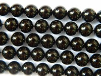 Wholesale free shipping natural 10mm black tourmaline smooth round loose beads gem stone for jewelry making design
