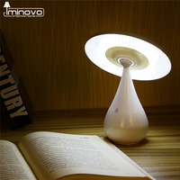 IMINOVO Mushroom Lamp Anion Air Purifier Rechargeable Nightlights LED Reading Light Stepless Dimming Touch Sensor