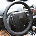Black Artificial Leather DIY Hand-stitched Steering Wheel Cover for Citroen Triumph Old C4 C-quatre