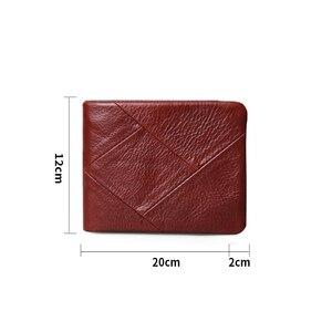 Image 3 - אגדת סנדלר 100% אמיתי עור גברים ארנקי בציר Trifold ארנק Zip מטבע כיס ארנק עור פרה עור ארנק עבור Mens